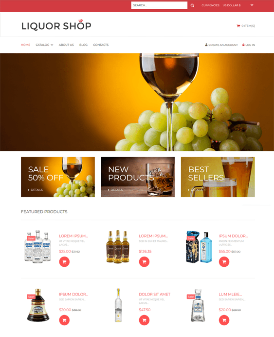 food drink virtuemart themes