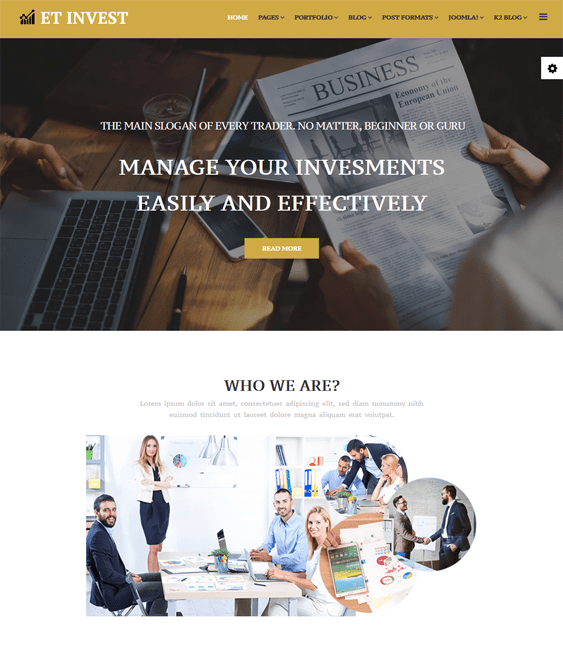 finance joomla templates investment firms financial advisors