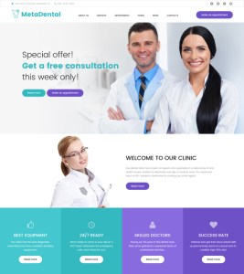 best dentists dental clinics orthodontist wordpress themes feature