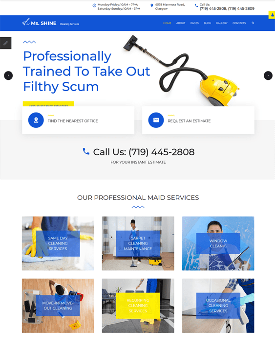 joomla templates cleaners maids cleaning companies