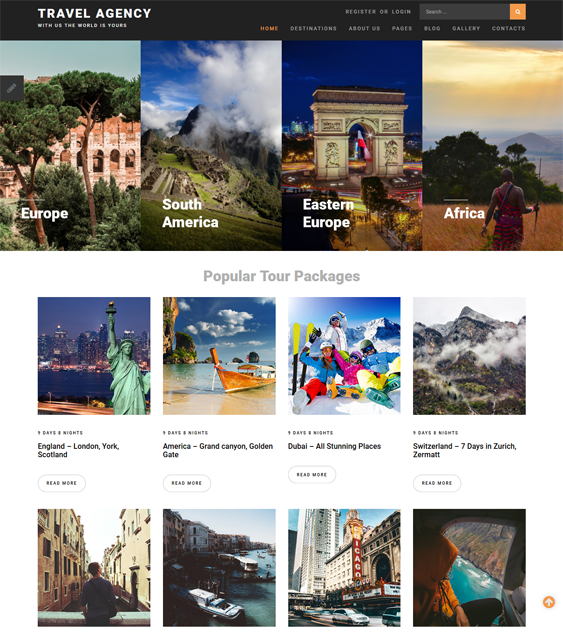 travel tourism joomla templates