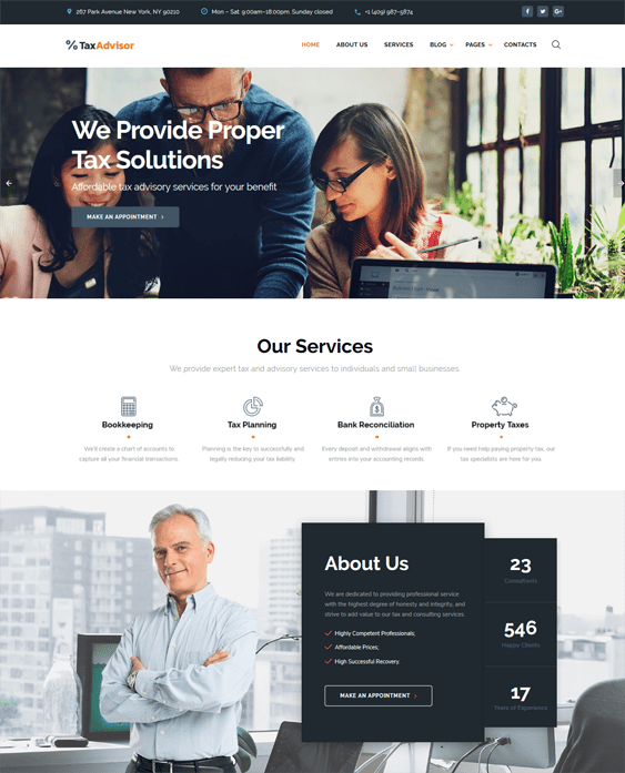 bootstrap website templates accountants accounting firms tax advisors
