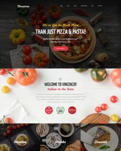 best italian restaurant wordpress themes feature