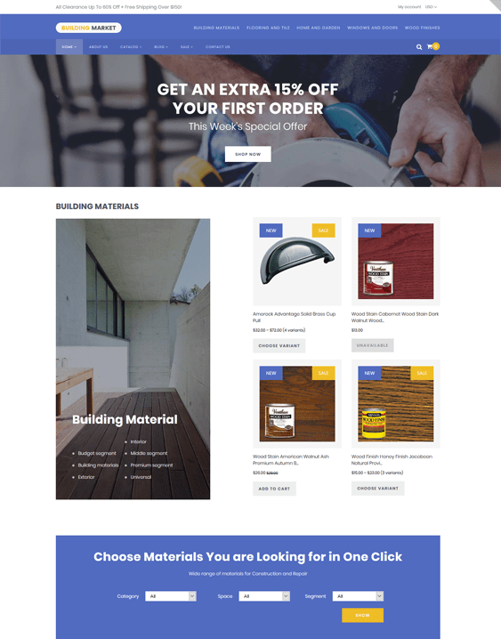 shopify themes building supply home improvement stores