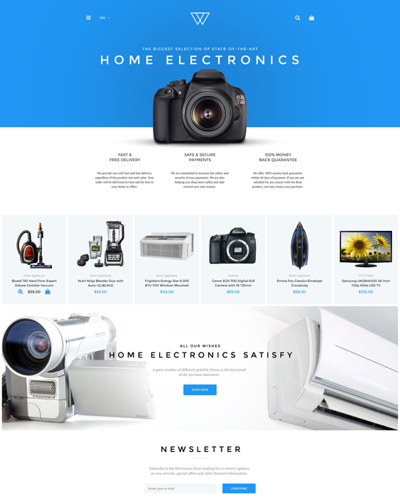 cell phone camera electronics shopify themes
