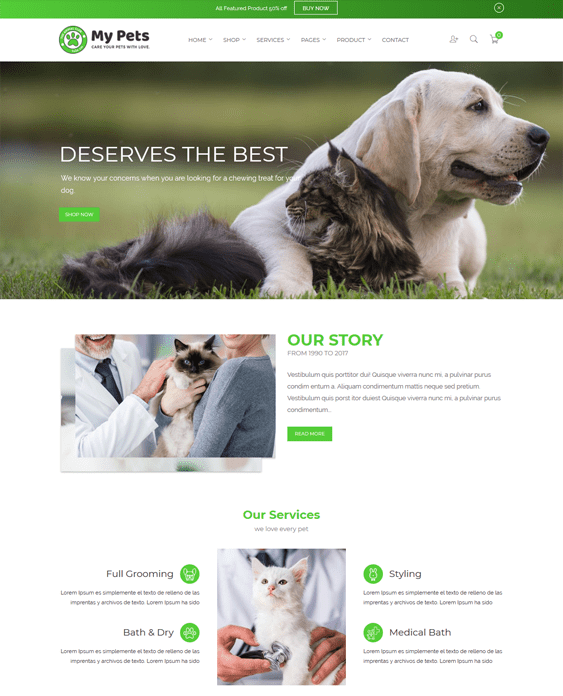 5 of the Best Shopify Theme for Pet Stores | Buildify