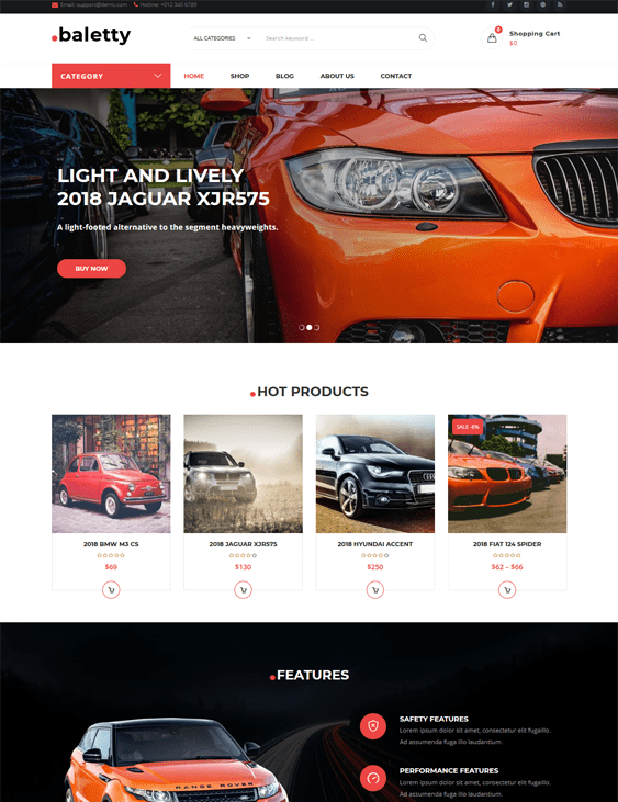 woocommerce themes online car automotive vehicle stores