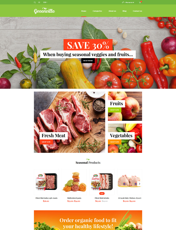 woocommerce themes green organic eco-friendly products