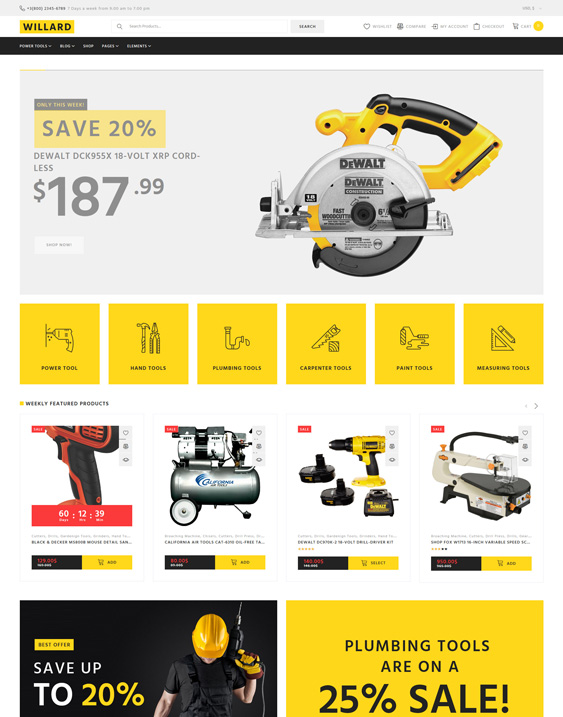 best woocommerce themes for tool hardware stores feature