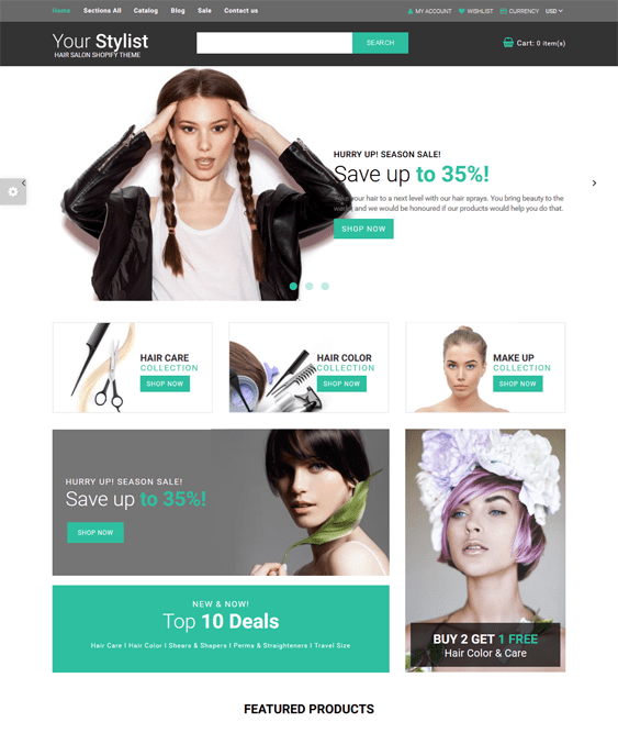 shopify themes selling beauty products cosmetics makeup perfume