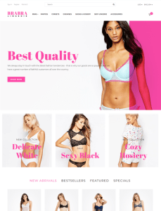 best opencart themes lingerie undewear feature