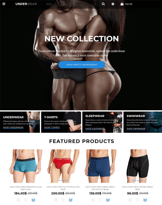 opencart themes for selling lingerie underwear