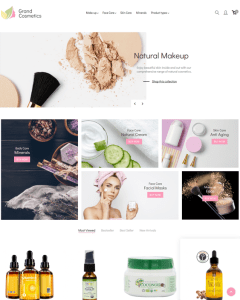 best magento themes hair products makeup cosmetics beauty products feature