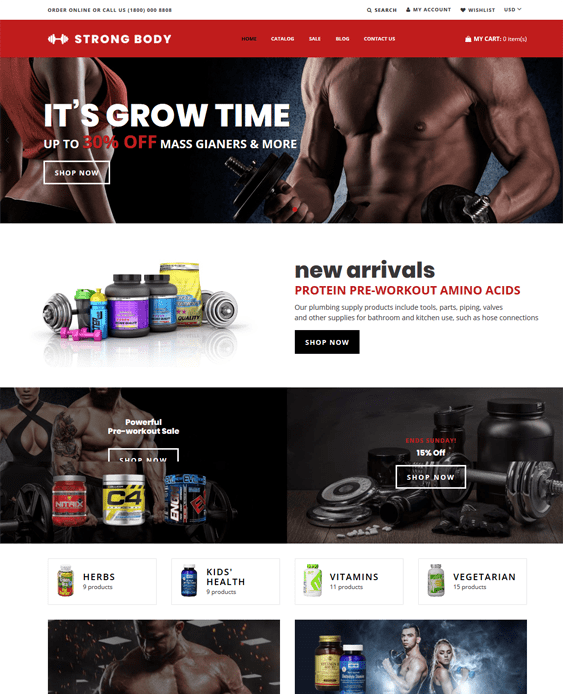 shopify themes for sports stores