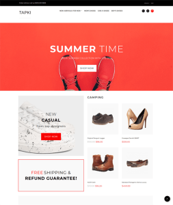 best opencart themes for shoe footwear stores feature