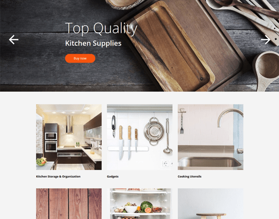 best shopify themes for kitchen supplies like bakeware cookware dinnerware feature