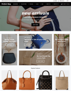 best shopify themes for handbags purses backpacks feature