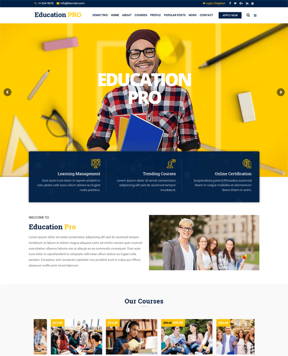 education wordpress themes schools learning centers