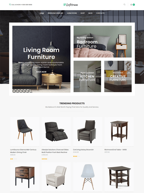 woocommerce themes for furniture stores