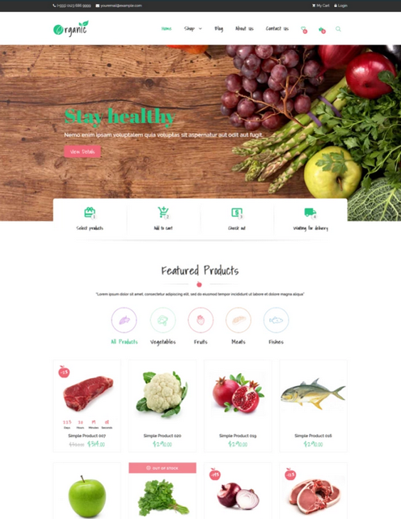 woocommerce themes for food stores