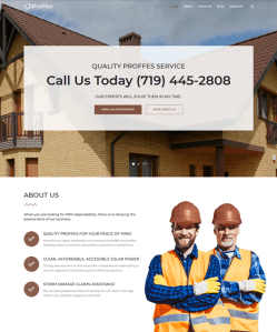 best wordpress themes construction companies building contractors feature