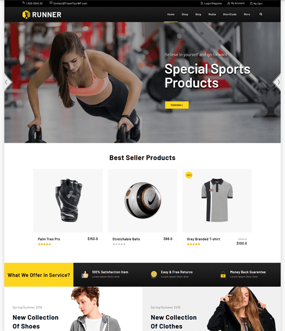 woocommerce themes for sports stores