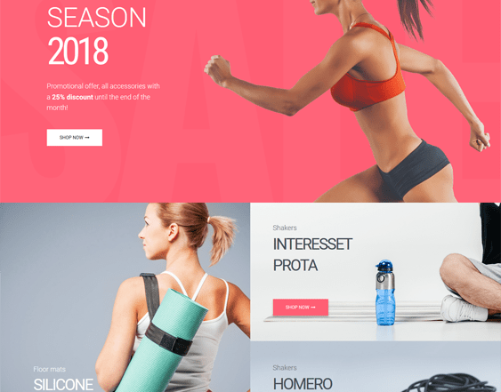 best gym fitness woocommerce themes feature
