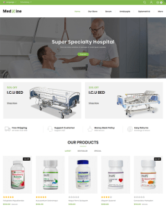 best health medical stores opencart themes feature