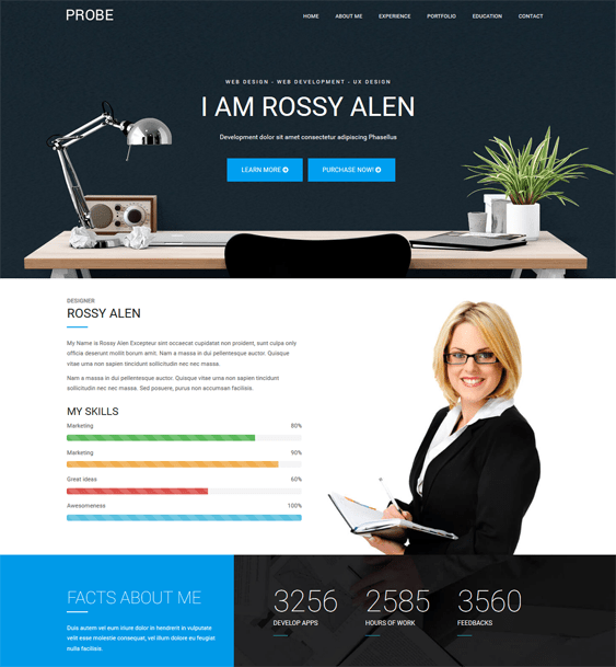 joomla templates for cv resume websites