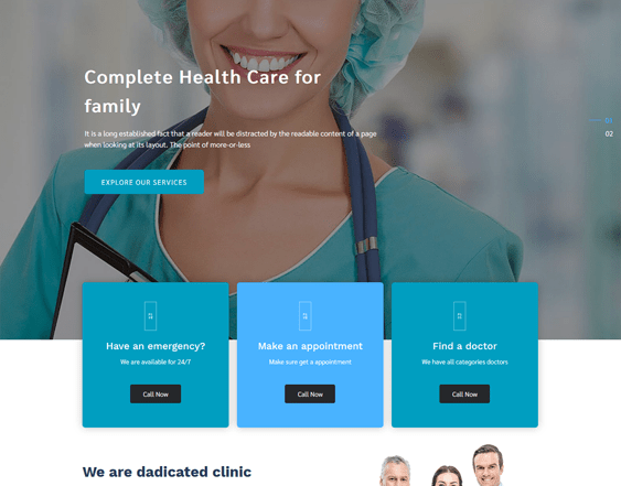 best medical wordpress themes for doctors clinics dentists therapists feature