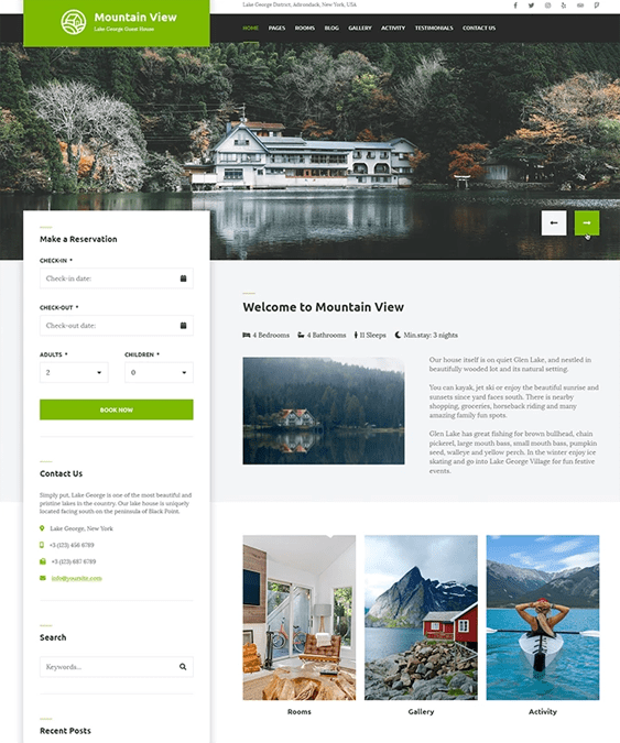 wordpress themes for hotels motels inns resorts