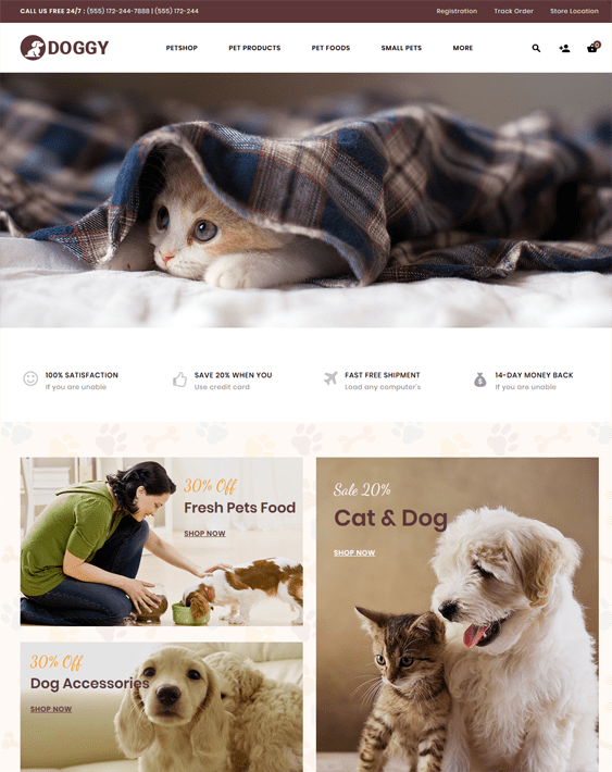 best opencart themes for animal and pet stores feature