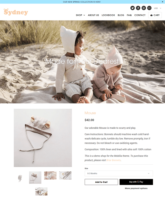 shopify themes for kids
