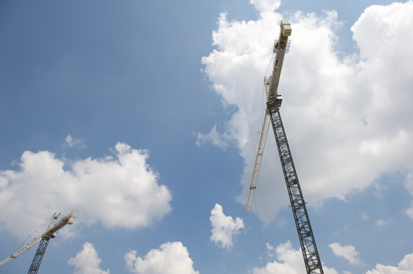 These German-made cranes include anti-collision technology for jobsite safety.