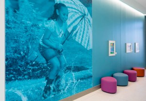 In keeping with the backyard theme of the Kay Jewelers Pavilion, our new ER has a puddle theme