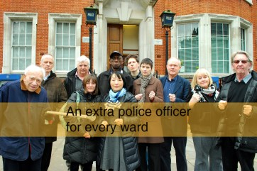An extra police officer for every ward
