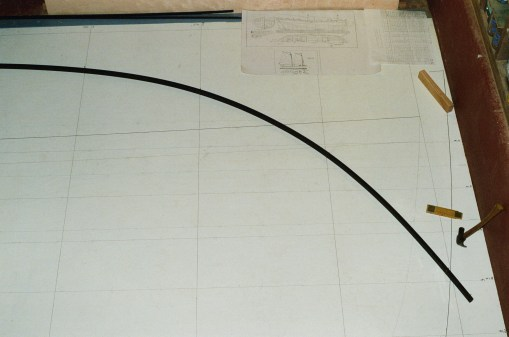 Plan view of the deck forward about to be drawn in