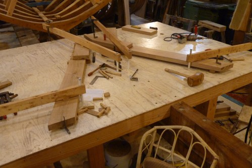 #1 Frame in the bow being assembled - only 3 futtochs per side vs 6 for the larger frames