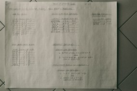 "2nd page of the ""Table of Offsets"" records the grid dimensions, profile, and other parameters"