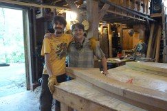 This great team cut most of the frame bevels. In fact, Josh adjusted the table angle for all the frames!