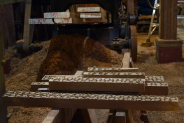 """The planking screws are 3"""" and 4"""" #24 galvanized wood screws. They are sunk below the planking surface with a 3/4"""" counterbore. The counterbore is then filled with 3/4"""" white oak bungs cut from planking scrap."""