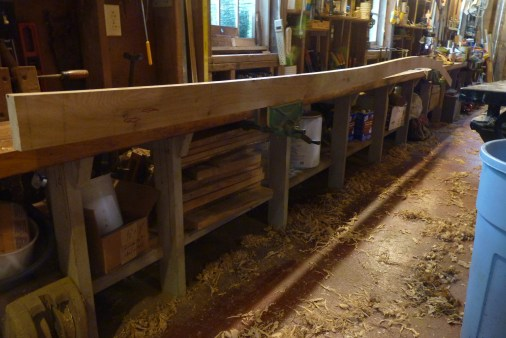 This is the first plank below the sheer plank at the aft end of the boat. This is before steam-bending!