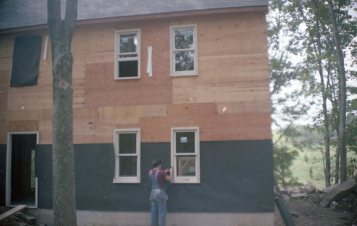The family did the roofing, siding and interior