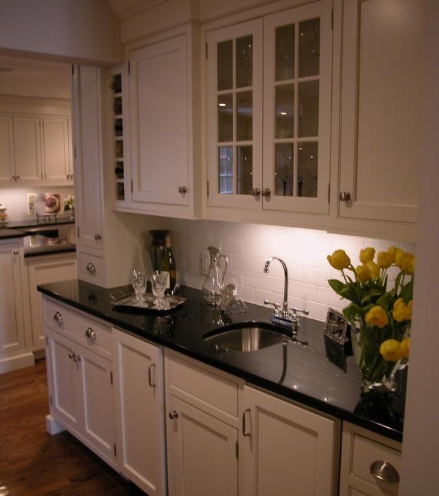 Hamptons kitchen - Building a Coastal Home on Black Granite Countertops Kitchen  id=91594