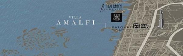 Amalfi Villas by Meraas Dubai Location Map