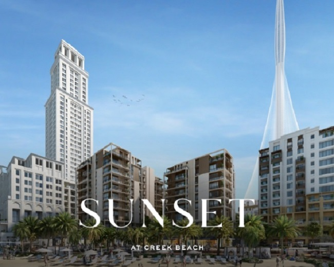Sunset at Creek Beach by Emaar - Dubai