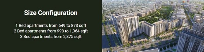 Executive Residences at Dubai Hills Estate by Emaar - Units Sizes