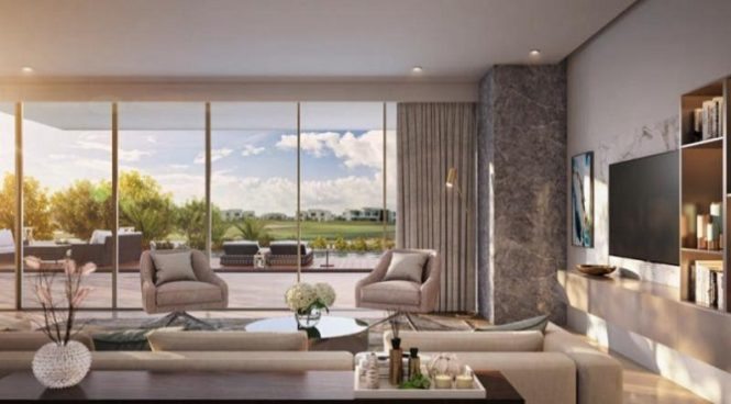 Emaar Majestic Vistas at Dubai Hills Estate Golf Course - Living Room