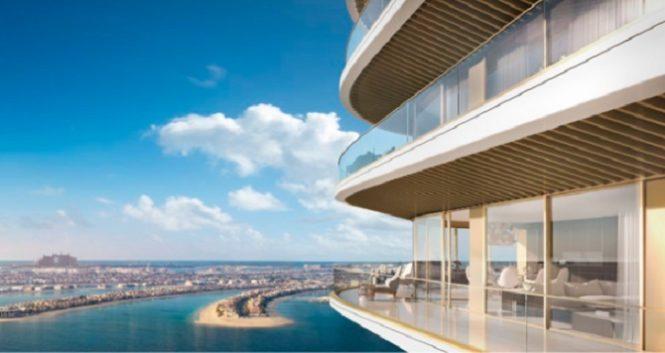 Elie Saab Branded Apartments in Emaar Beachfront.- Balcony