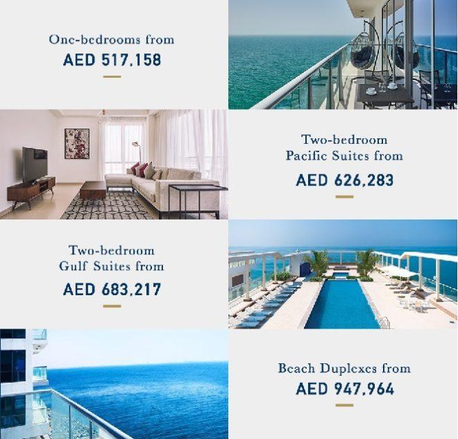 Pacific Al Marjan Island - RAK Ras Al Khaimah - UAE Apartment Sizes